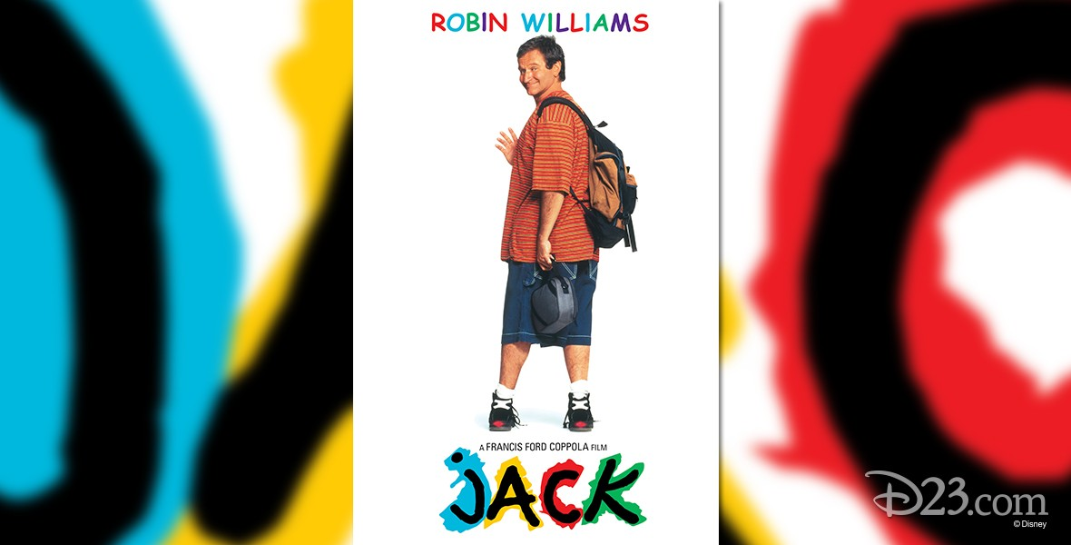 movie poster for Jack, featuring Robin Williams