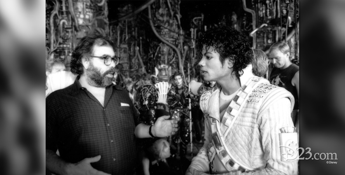 photo of Michael Jackson and Francis Ford Coppola on the set of Captain EO