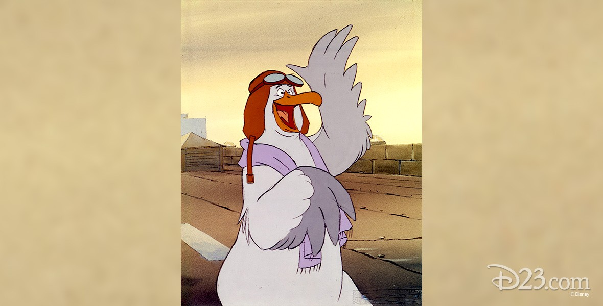 cel from animated movie The Rescuers featuring Orville