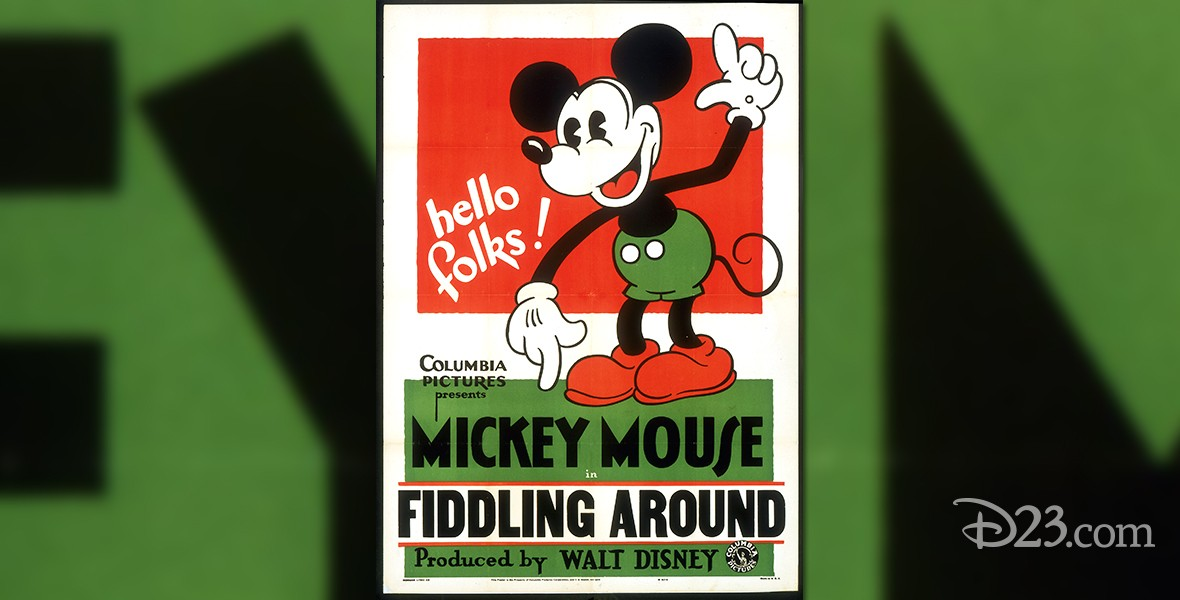 movie poster for Just Mickey cartoon