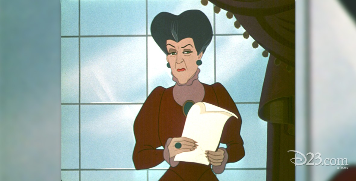 cel from animated Cinderella showing Cinderella's stepmother, Lady Tremaine