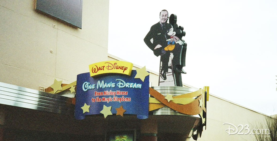 Photo of Walt Disney and Mickey Mouse