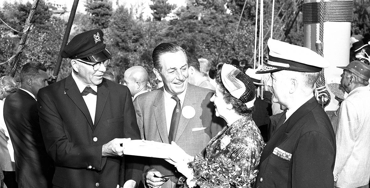 Joe Fowler with Walt Disney