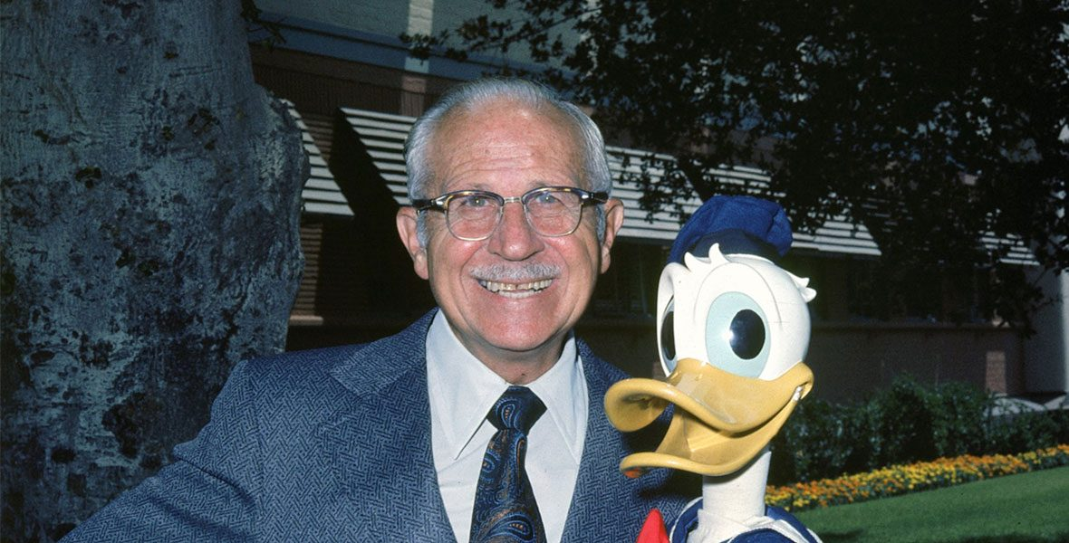 Clarence Nash with Donald Duck