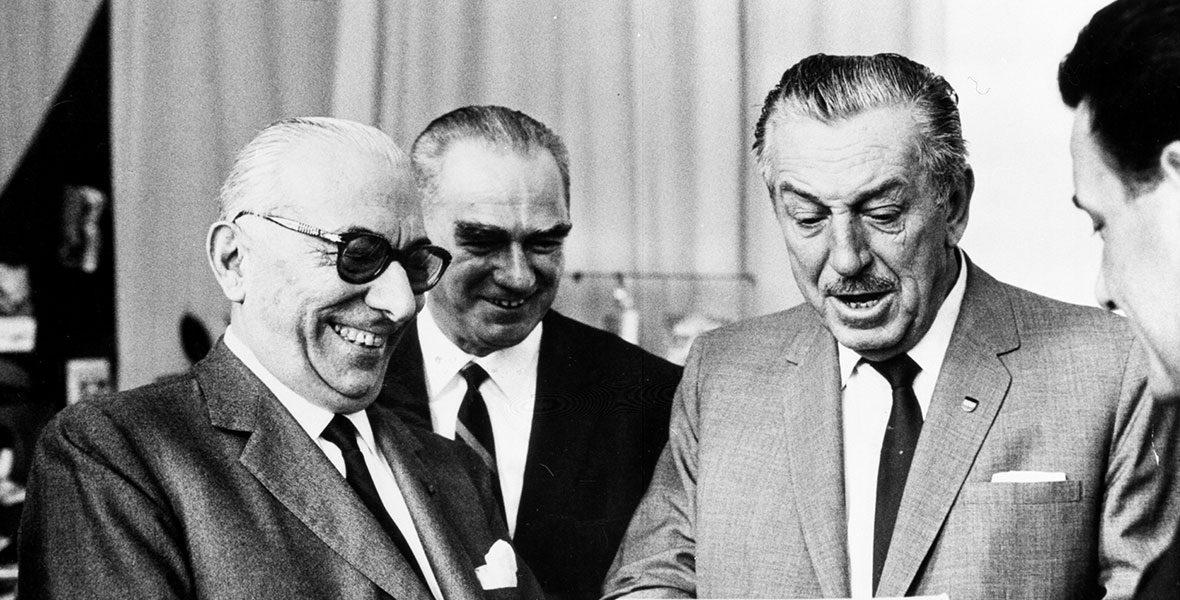 Arnoldo Mondadori with Walt Disney