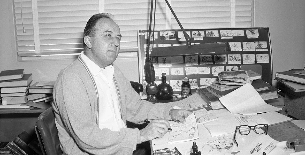 Don DaGradi at his desk