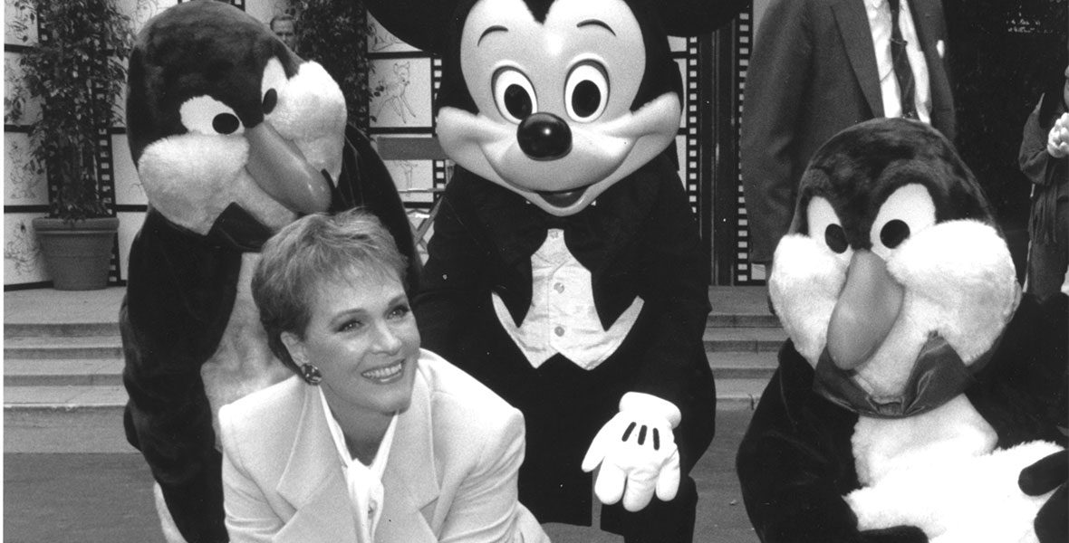 Julie Andrews with Mickey Mouse