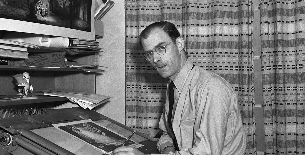 Ken O'Connor at a desk