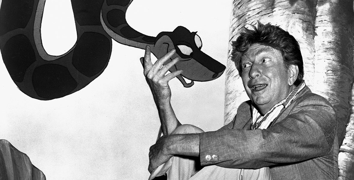 Sterling Holloway with Kaa