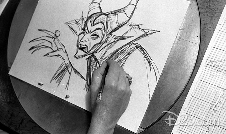 Marc Davis sketch of Maleficent
