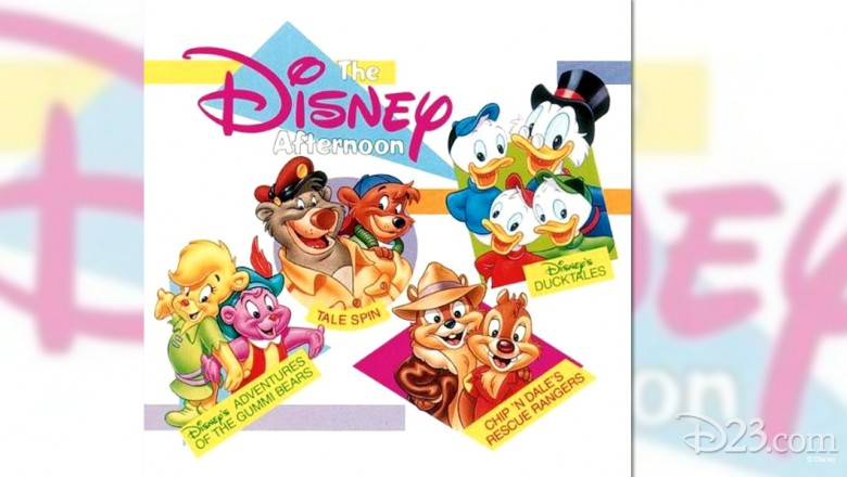 logo art for Disney Afternoon featuring all the characters