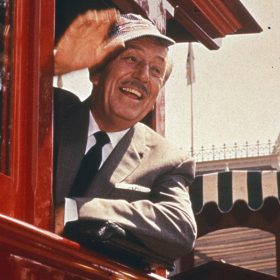 Walt Disney on Disneyland Railroad