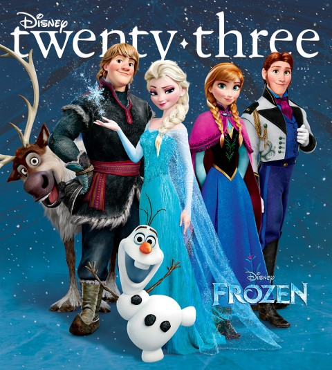 Disney twenty-three Fall 2013 cover art featuring Frozen