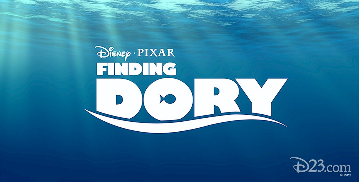 title art for animated feature Finding Dory