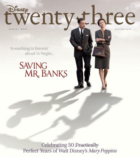 Disney twenty-three Winter 2013 cover art featuring Saving Mr. Banks