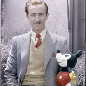 Walt with Mickey doll