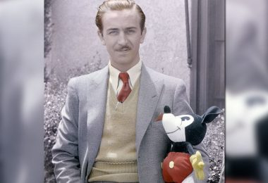 Walt with Mickey doll