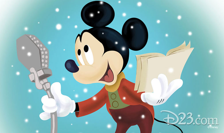 Mickey Mouse caroling