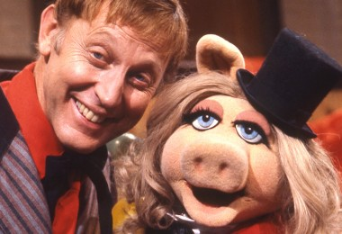 photo of Wally Boag with Miss Piggy on The Muppets