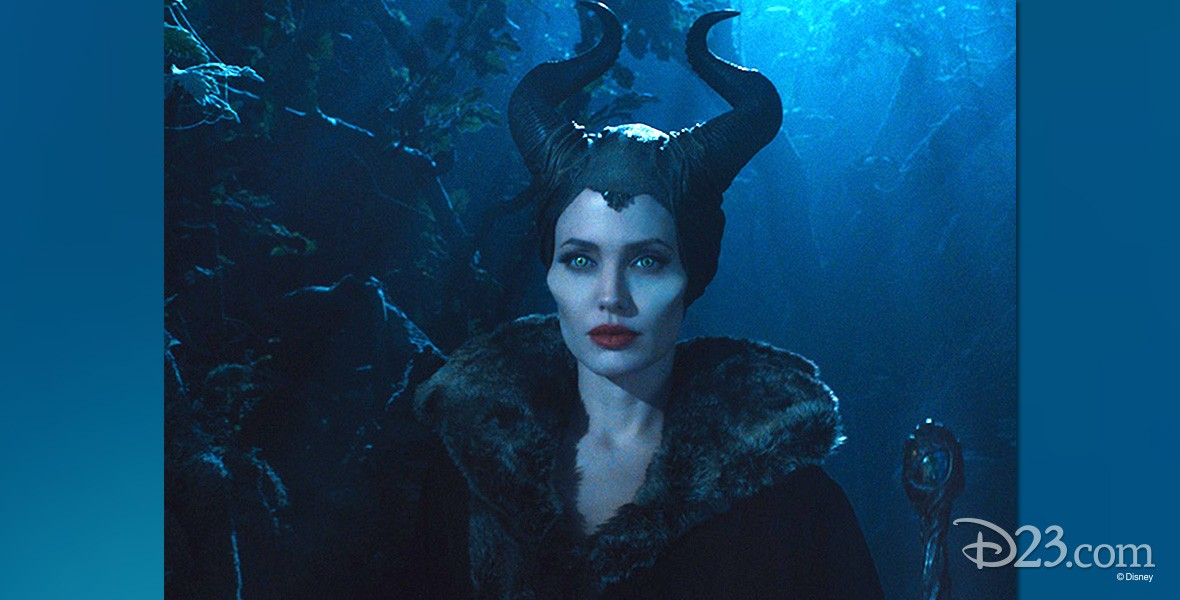 production still from Maleficent featuring Angelina Jolie as eponymous role