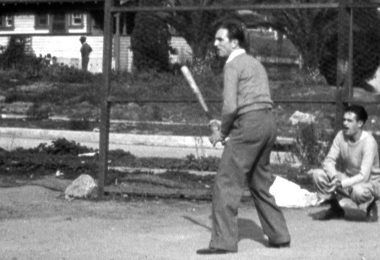 Walt Disney playing baseball