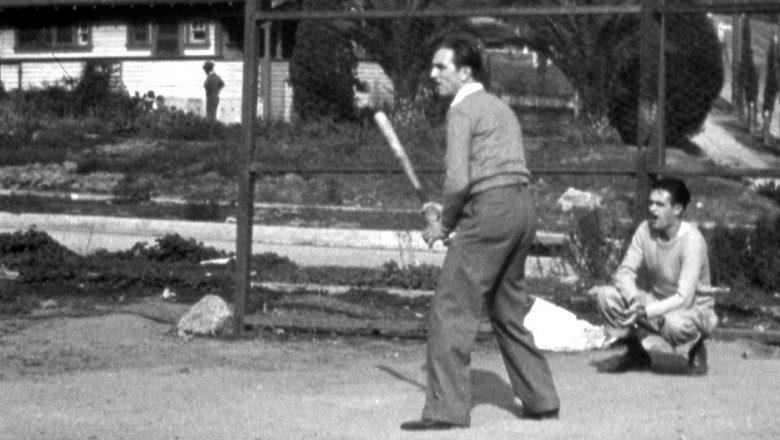 Walt Disney playing baseball