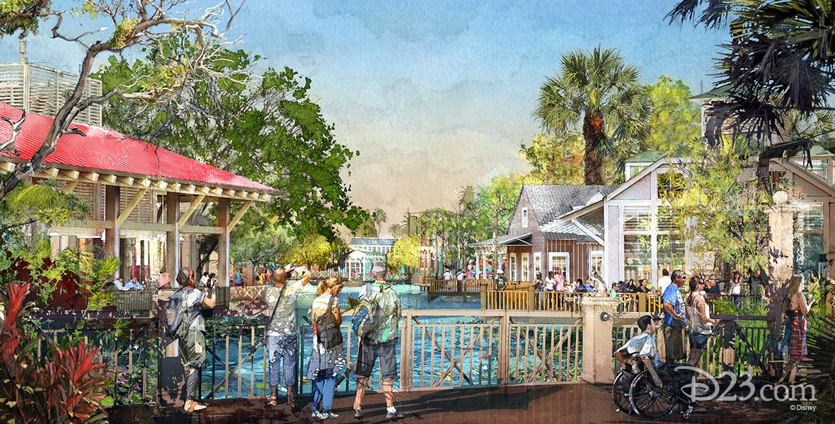 photo of resort area in Walt Disney World, Disney Springs