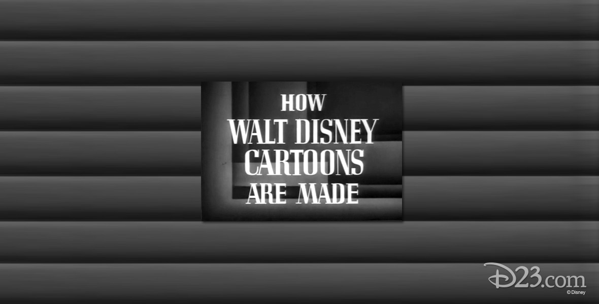 movie title frame from How Walt Disney Cartoons Are Made