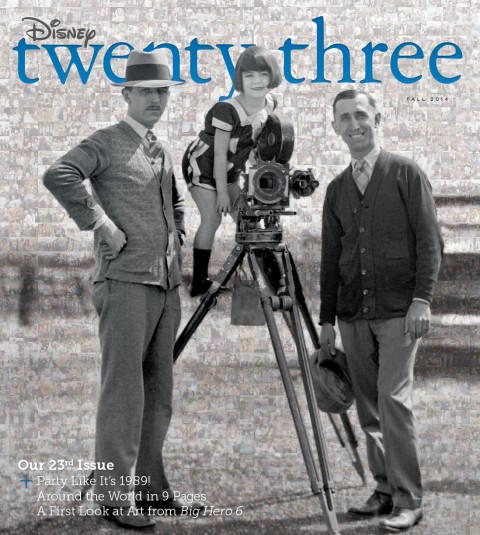 Disney twenty-three Fall 2014 cover art featuring young Walt and Roy