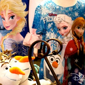 photo of basket of Olaf toys at Anna and Elsa's Boutique in Downtown Disney