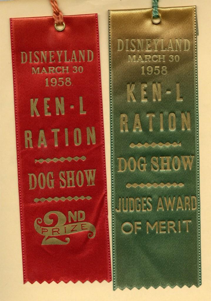 Disneyland First Annual Dog Show Ken-L Ration Award
