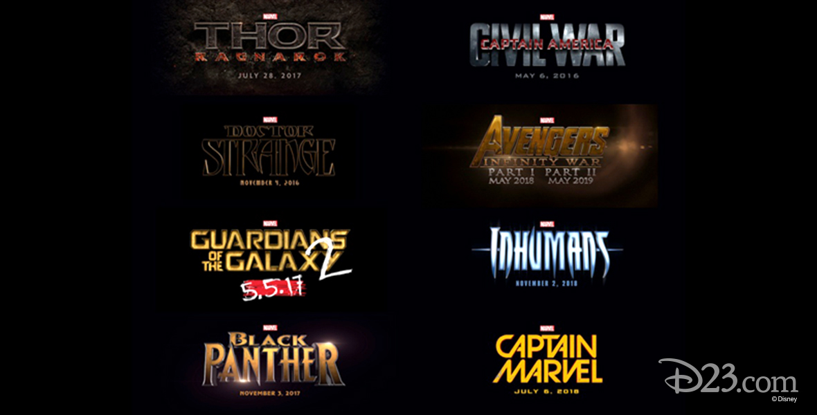 A Glimpse At Marvels 9 New Films Through 2019 D23