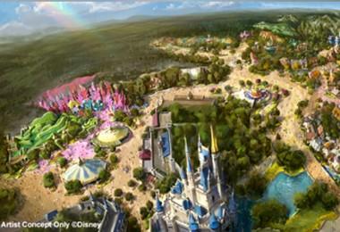 artist's painted rendering of Tokyo Disneyland