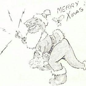 Disney T-Rex Dinosaur Santa Claus from The Bulletin