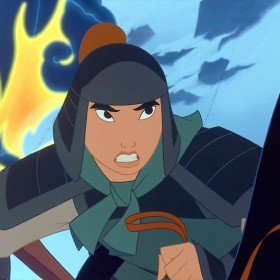still from animated movie Mulan