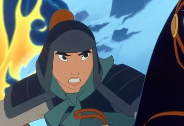 still from animated movie Mulan