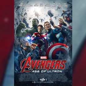 one-sheet movie poster for Avengers: Age of Ultron