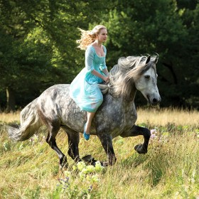 Lily James as Ella Riding Horse