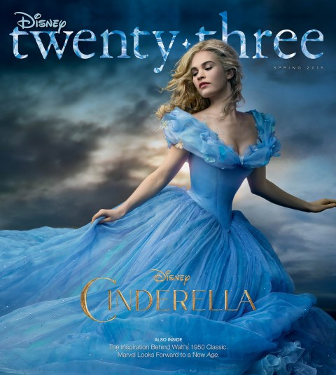 Disney twenty-three Spring 2015 cover art featuring Cinderella