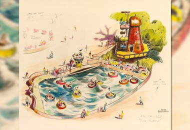 illustration of Early Painted Vision of Disneyland