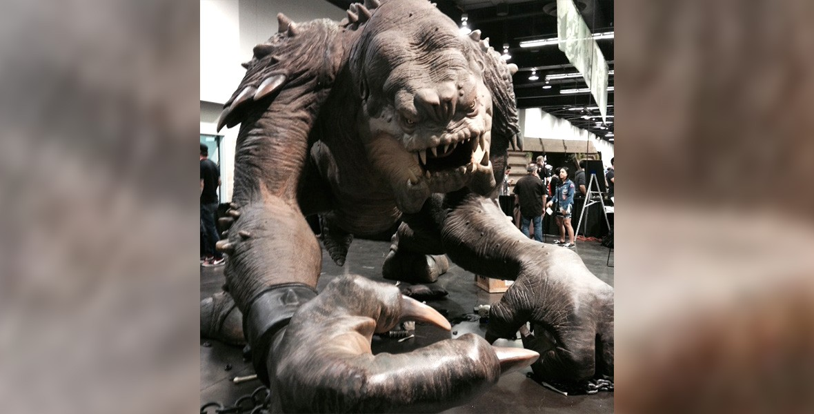 photo of a bigger-than-life Chained Monster at Star Wars Celebration