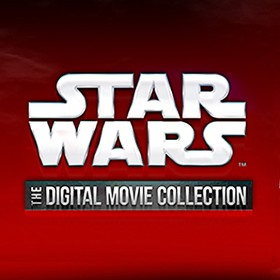 title art of Star Wars Digital Movie Collection featuring Darth Vader