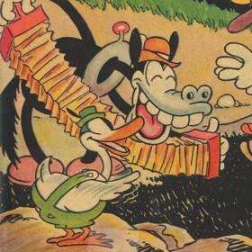 Early Donald Duck appearance in 1930s Mickey Mouse comic