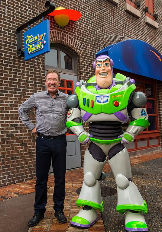 Buzz Lightyear and Tim Allen