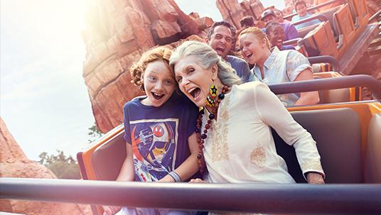 Rollercoaster ride in Magic Kingdom Park
