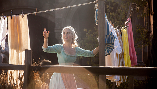 Lily James in Cinderella