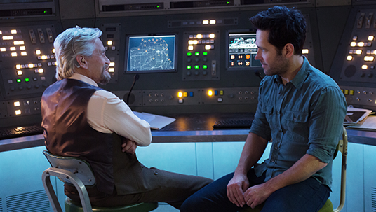 Paul Rudd and Michael Douglas in Marvel's Ant-Man