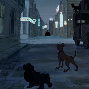Lady and the Tramp guest appearance in 101 Dalmatians