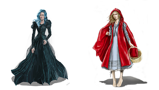 Colleen Atwood Costume Designs from Into the Woods