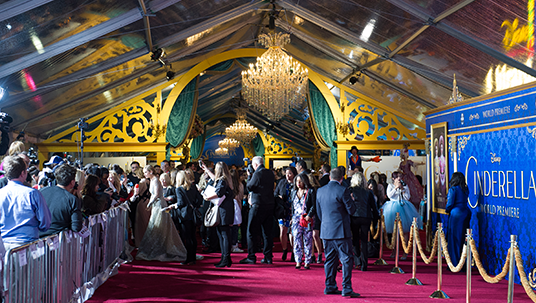 Red Carpet at Cinderella Premiere in Hollywood